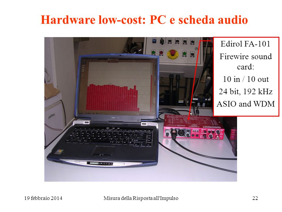 Hardware low-cost: PC e scheda audio