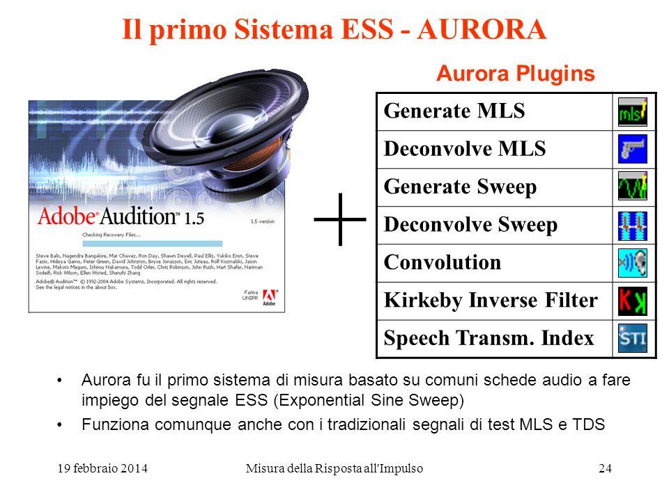 Il primo Sistema ESS - AURORA
