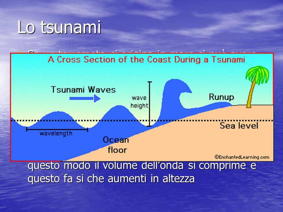 Lo tsunami Se un terremoto si origina in mare si può avere uno tsunami