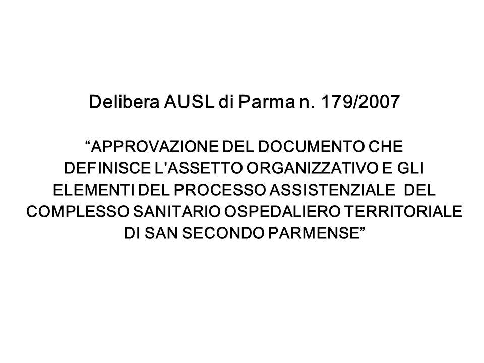 Delibera AUSL di Parma n. 179/2007