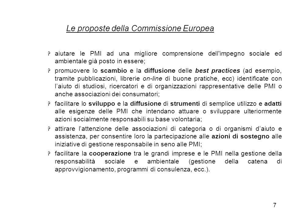 Le proposte della Commissione Europea