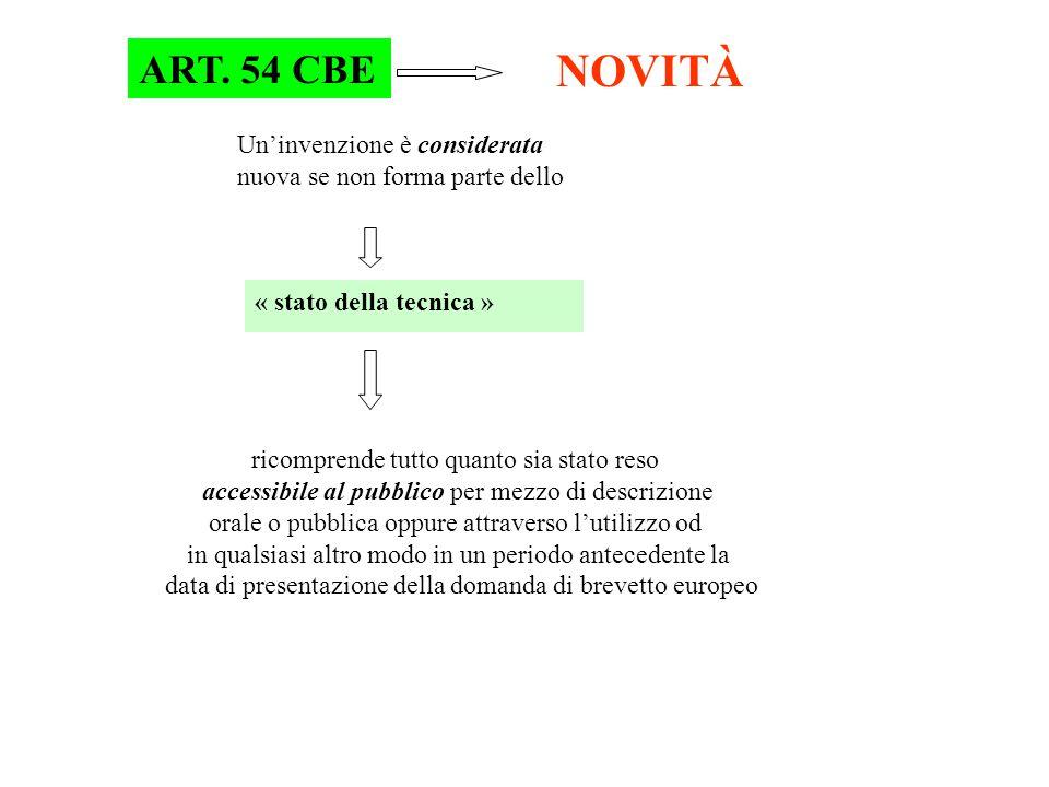 NOVITÀ ART. 54 CBE Un'invenzione è considerata