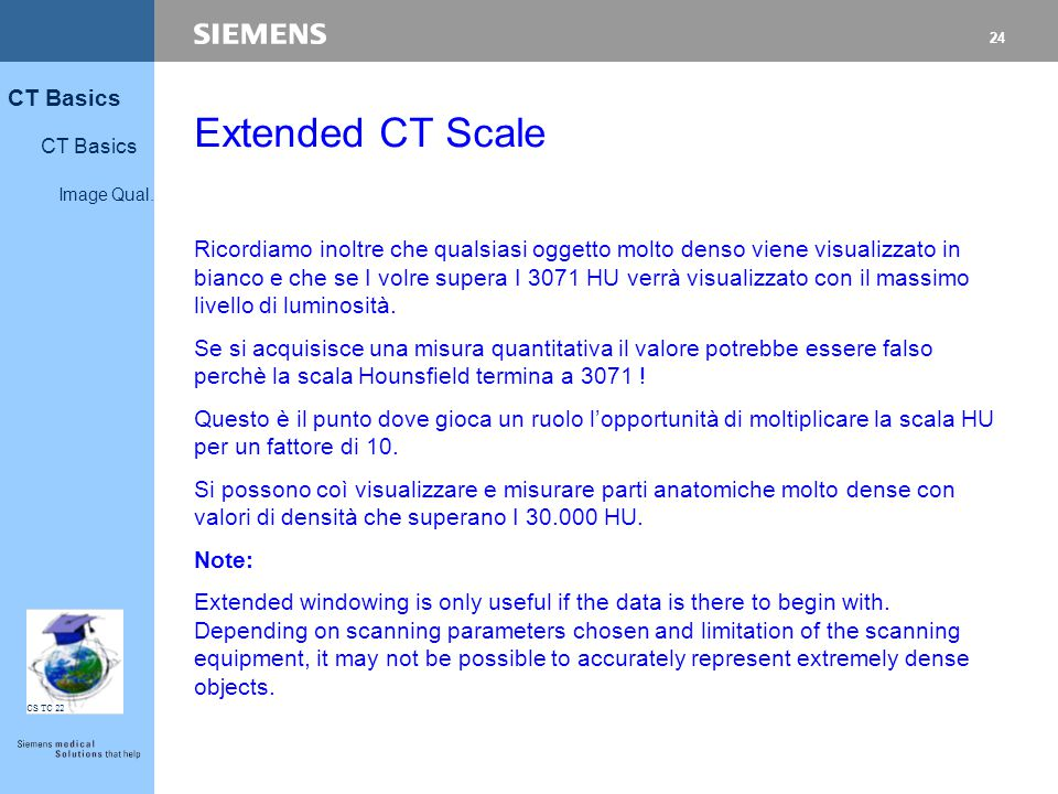 Extended CT Scale