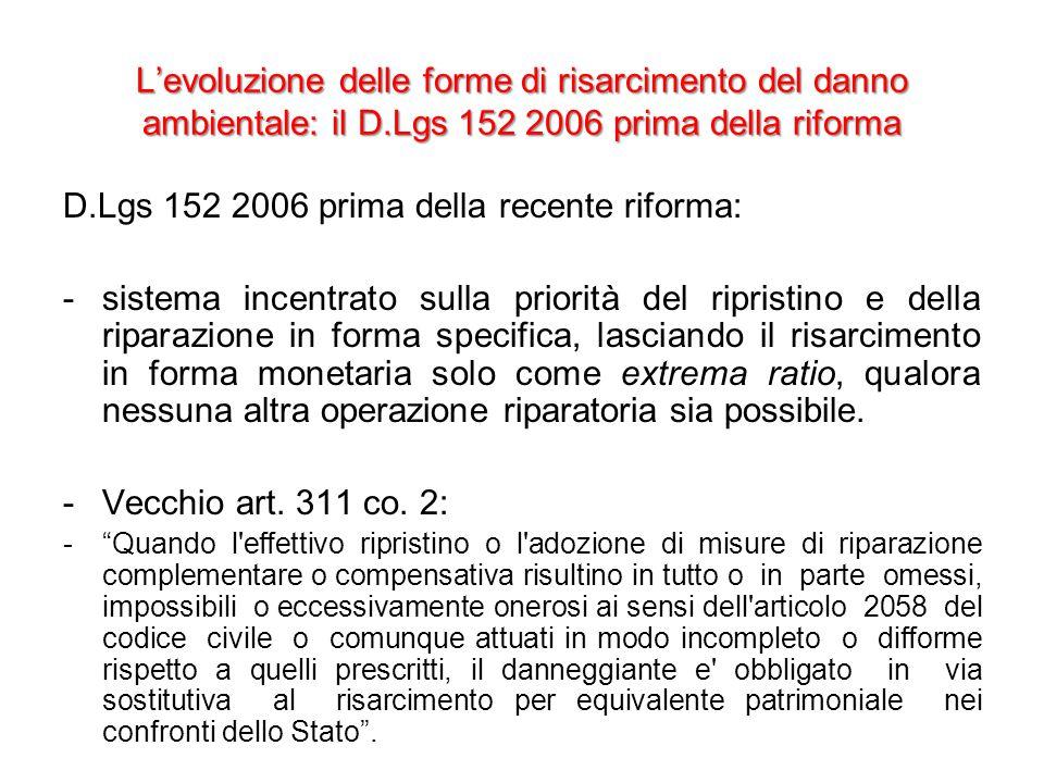 D.Lgs 152 2006 prima della recente riforma: