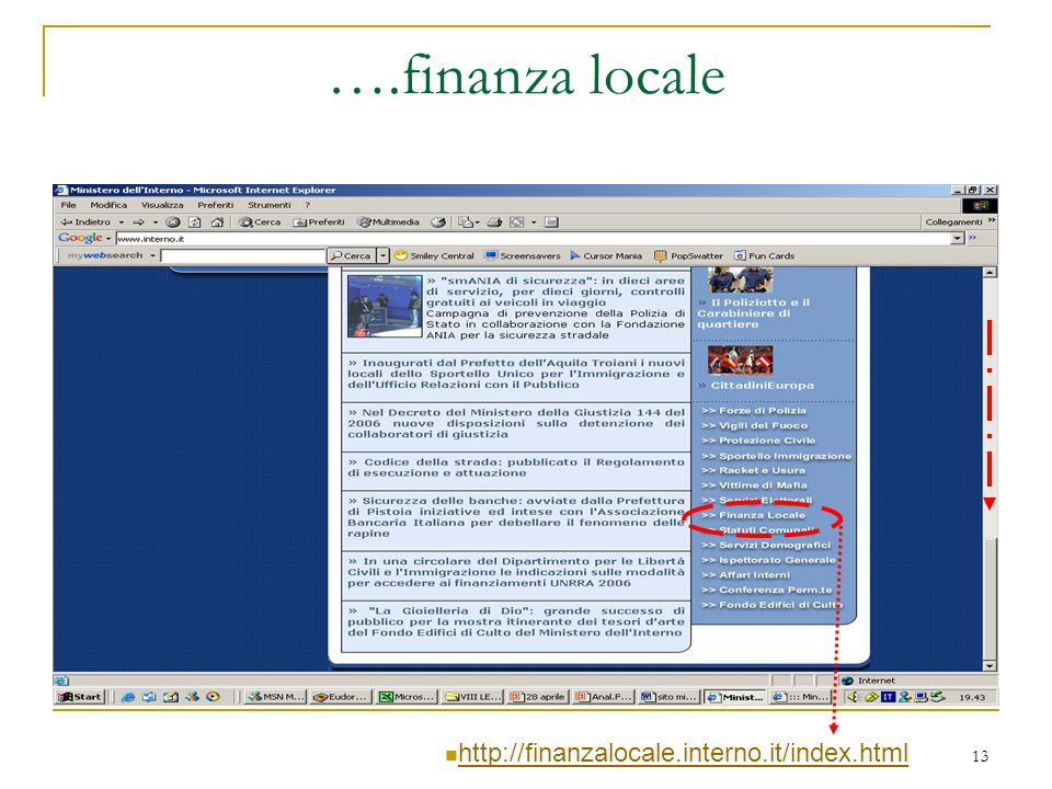….finanza locale http://finanzalocale.interno.it/index.html