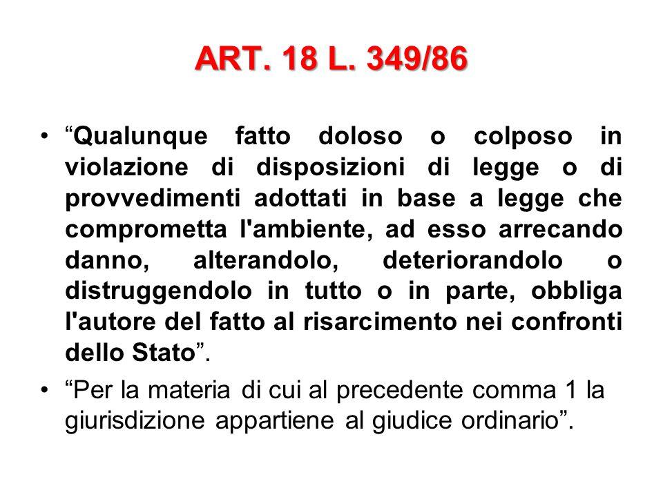 ART. 18 L. 349/86