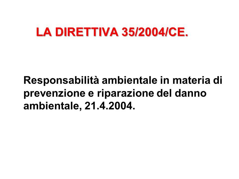 LA DIRETTIVA 35/2004/CE.