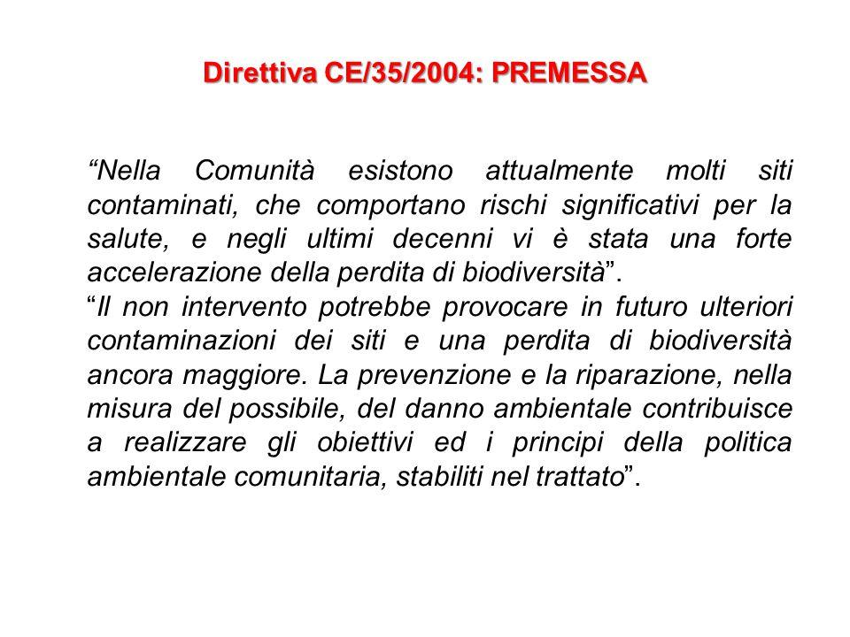 Direttiva CE/35/2004: PREMESSA