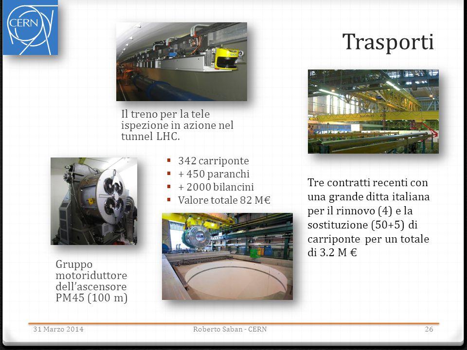 Trasporti Il treno per la tele ispezione in azione nel tunnel LHC.