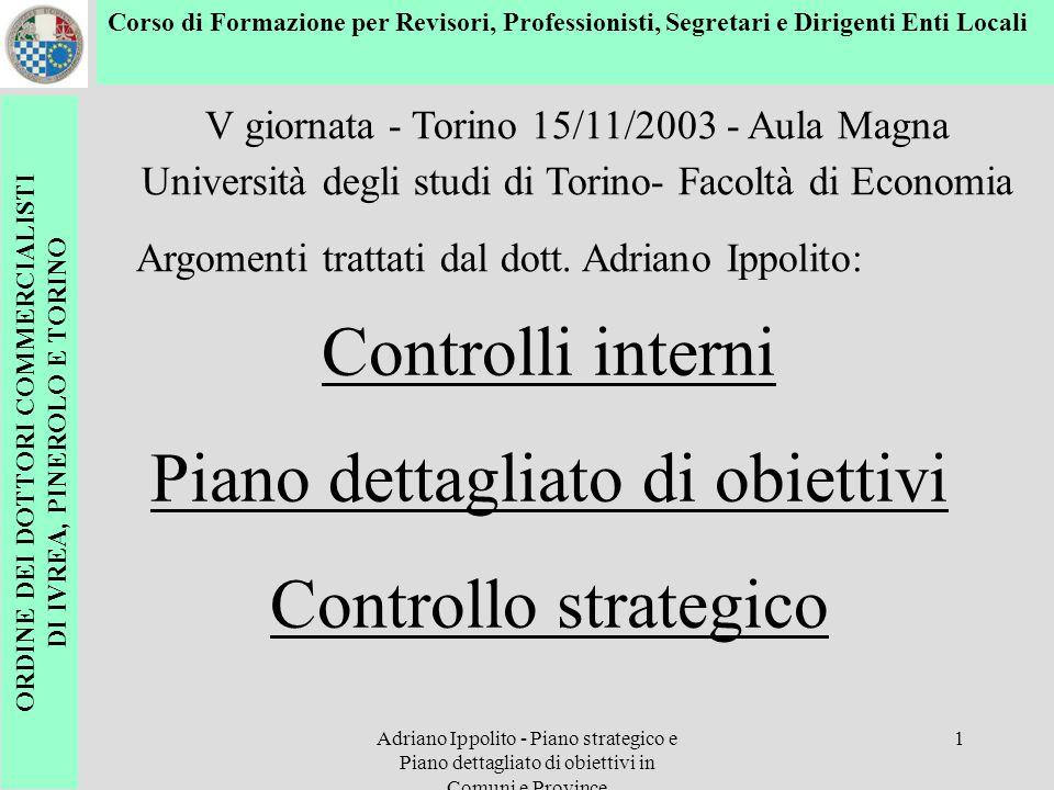 ORDINE DEI DOTTORI COMMERCIALISTI DI IVREA, PINEROLO E TORINO