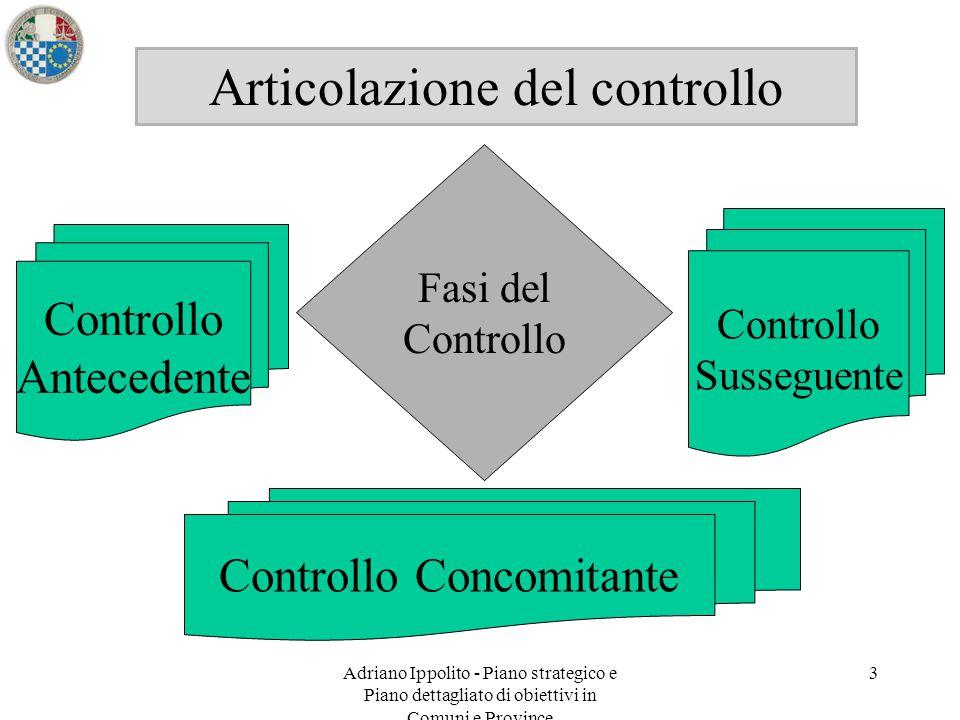 Articolazione del controllo