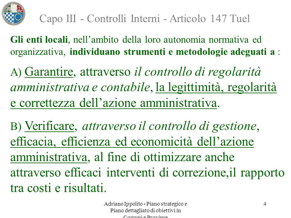 Capo III - Controlli Interni - Articolo 147 Tuel