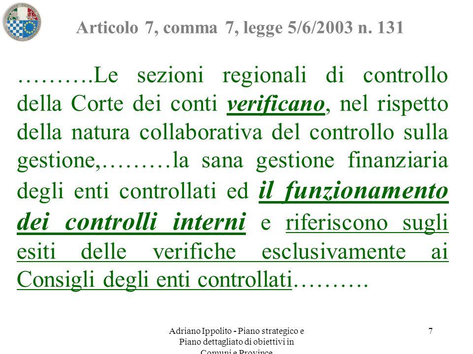 Articolo 7, comma 7, legge 5/6/2003 n. 131