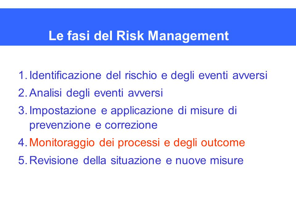 Le fasi del Risk Management
