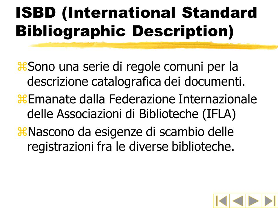 ISBD (International Standard Bibliographic Description)