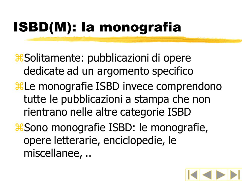 ISBD(M): la monografia