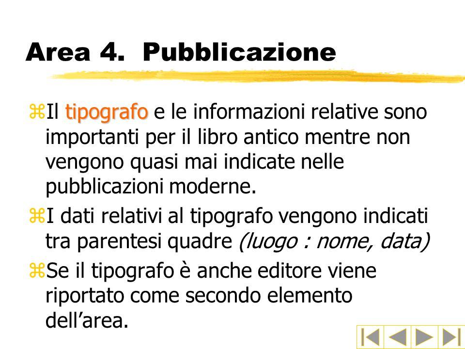 Area 4. Pubblicazione