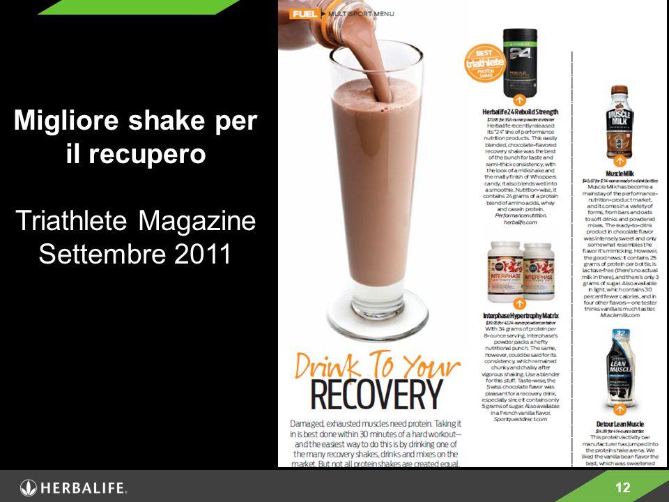 Migliore shake per il recupero
