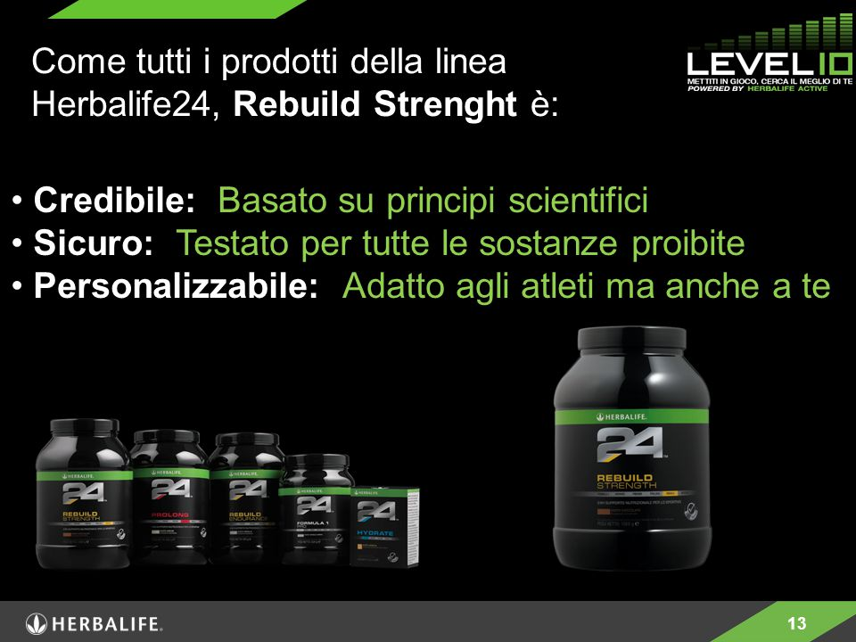 Come tutti i prodotti della linea Herbalife24, Rebuild Strenght è: