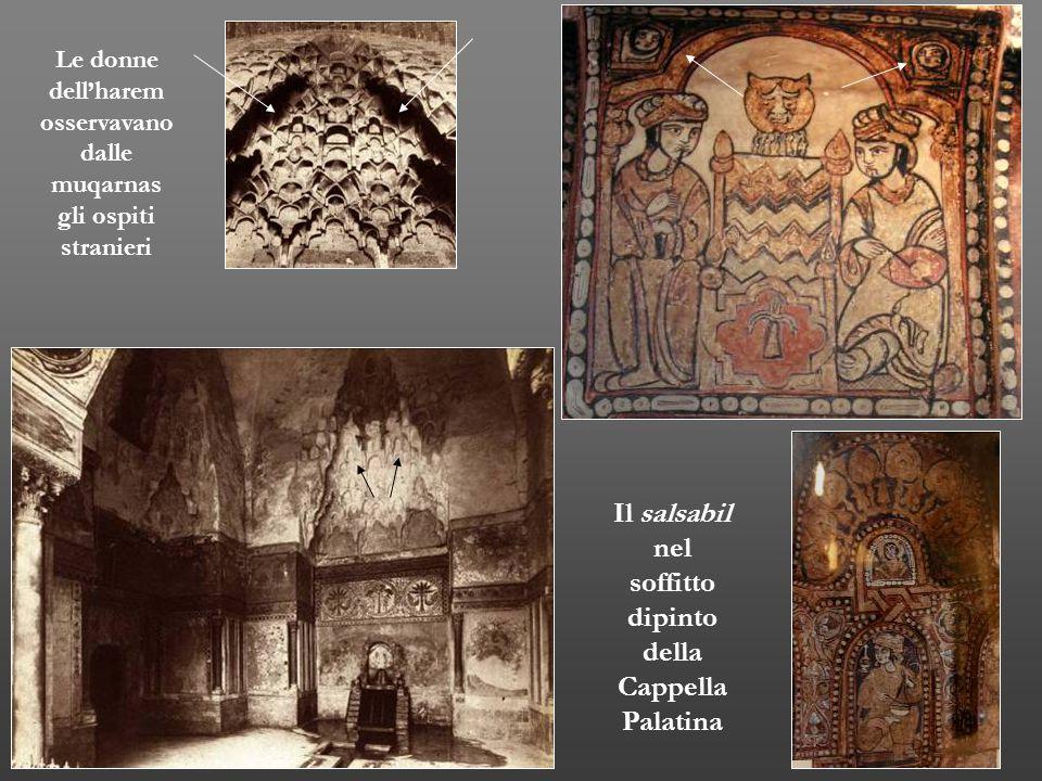 Il salsabil nel soffitto dipinto della Cappella Palatina