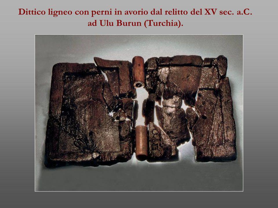 Dittico ligneo con perni in avorio dal relitto del XV sec. a.C.