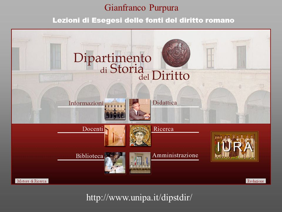 Lezioni di Esegesi delle fonti del diritto romano