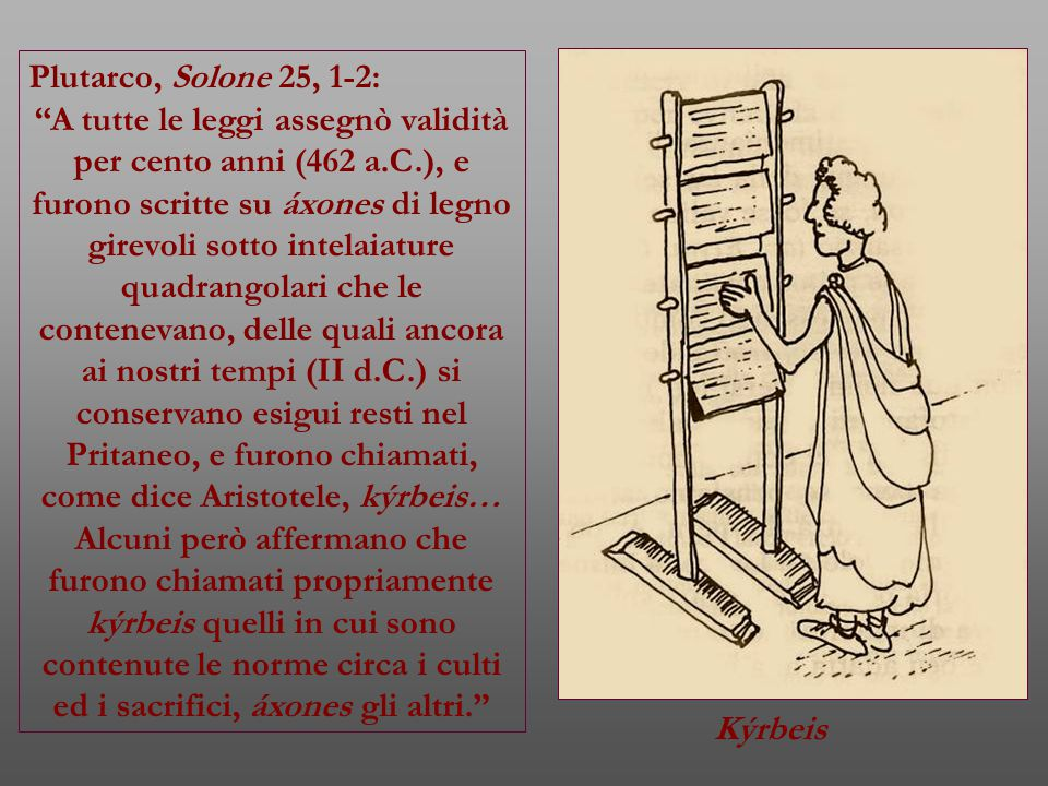 Plutarco, Solone 25, 1-2: