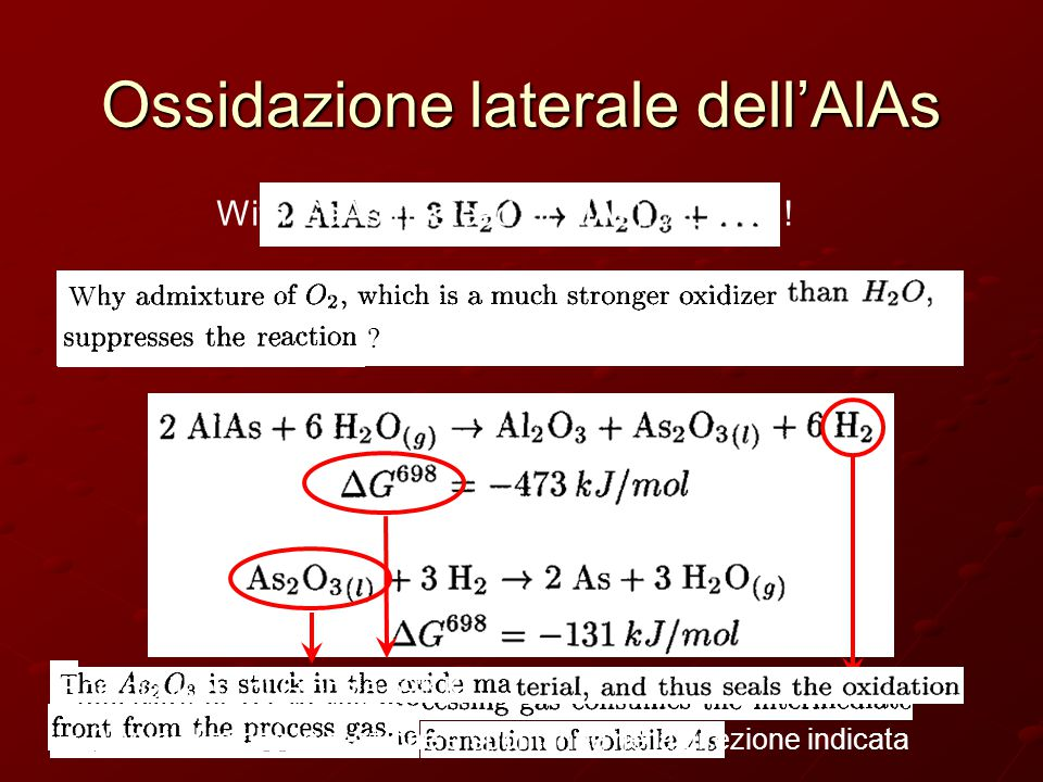 Ossidazione laterale dell'AlAs