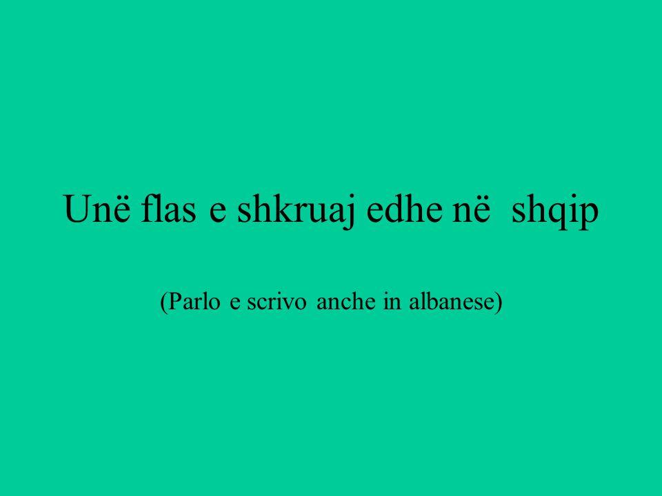 Unë flas e shkruaj edhe në shqip