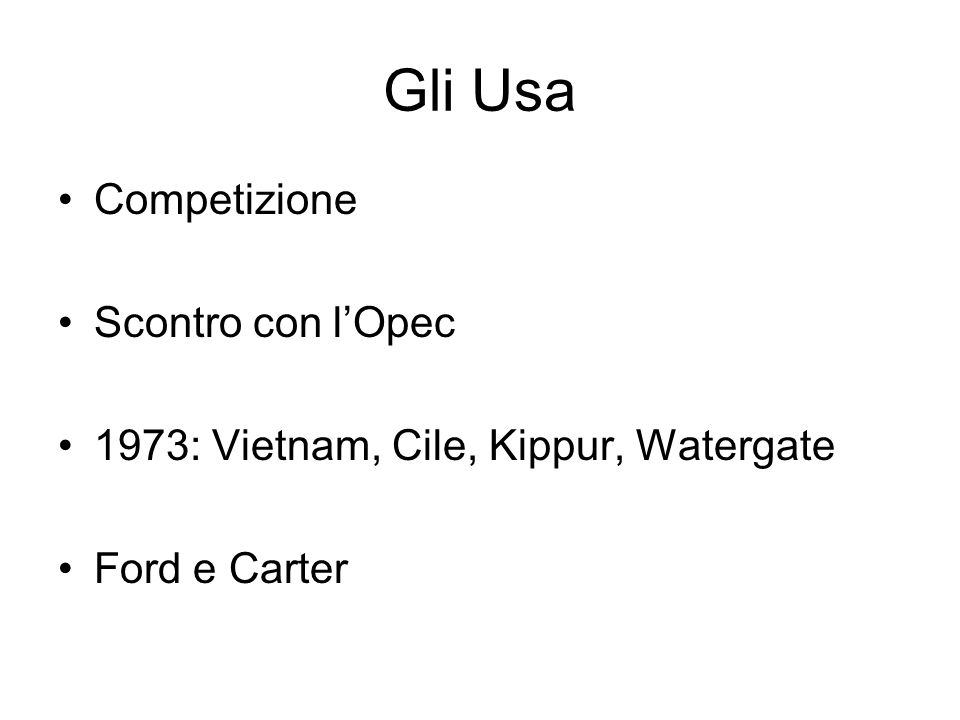Gli Usa Competizione Scontro con l'Opec