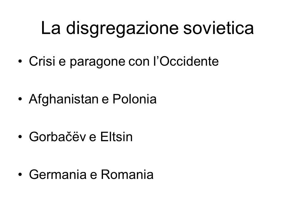 La disgregazione sovietica