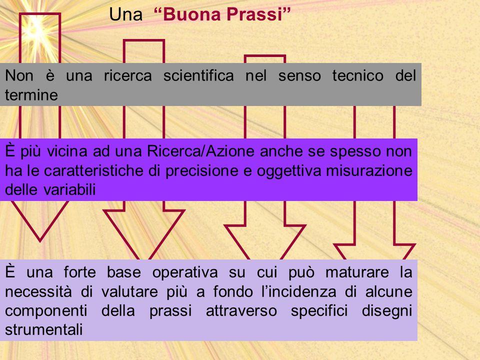 Una Buona Prassi Non è una ricerca scientifica nel senso tecnico del termine.