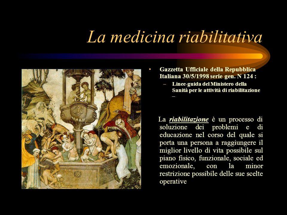 La medicina riabilitativa