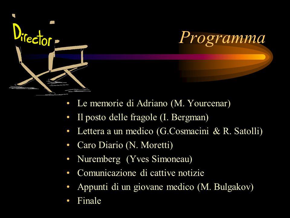 Programma Le memorie di Adriano (M. Yourcenar)