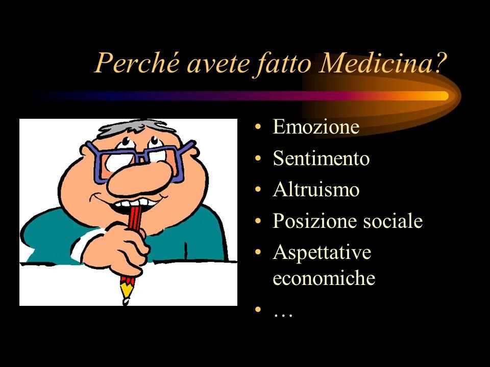 Perché avete fatto Medicina