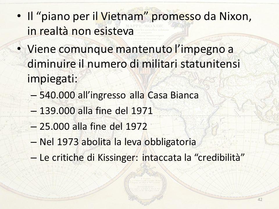 Il piano per il Vietnam promesso da Nixon, in realtà non esisteva