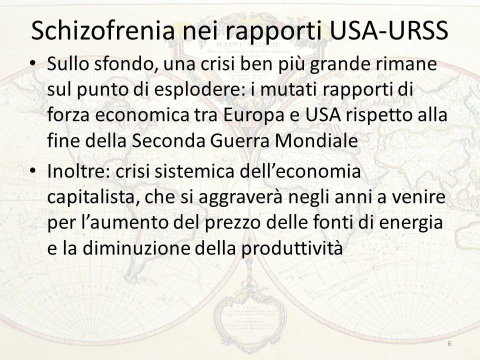 Schizofrenia nei rapporti USA-URSS