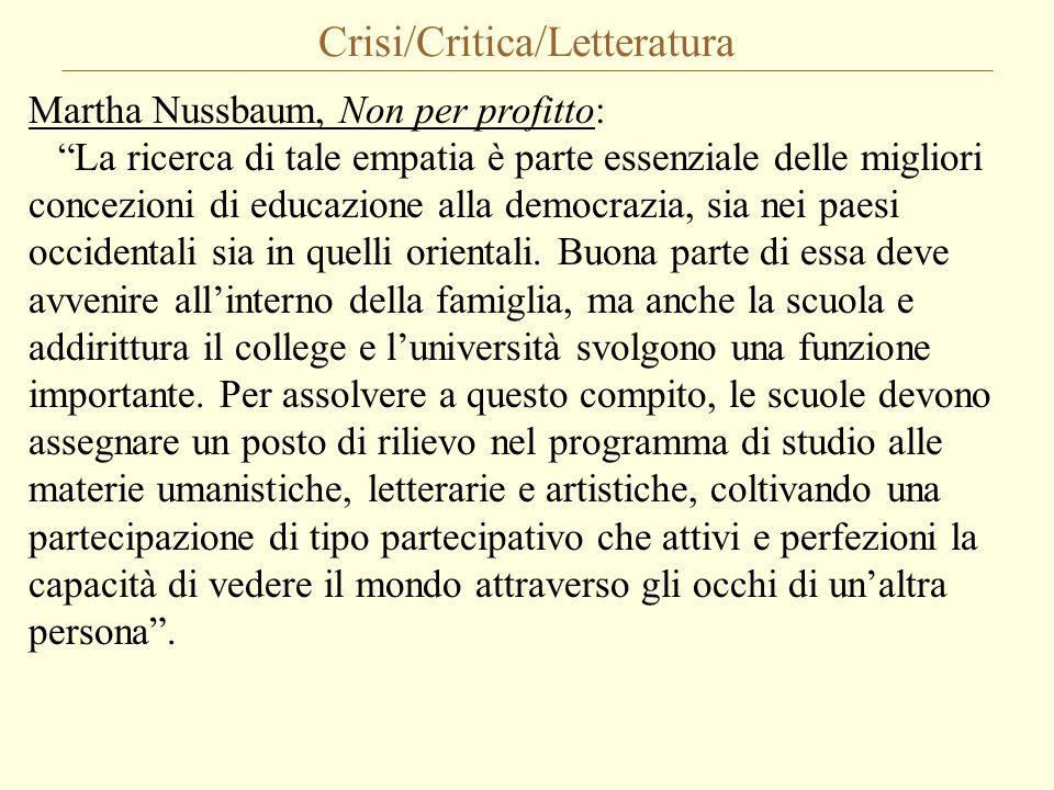 Crisi/Critica/Letteratura