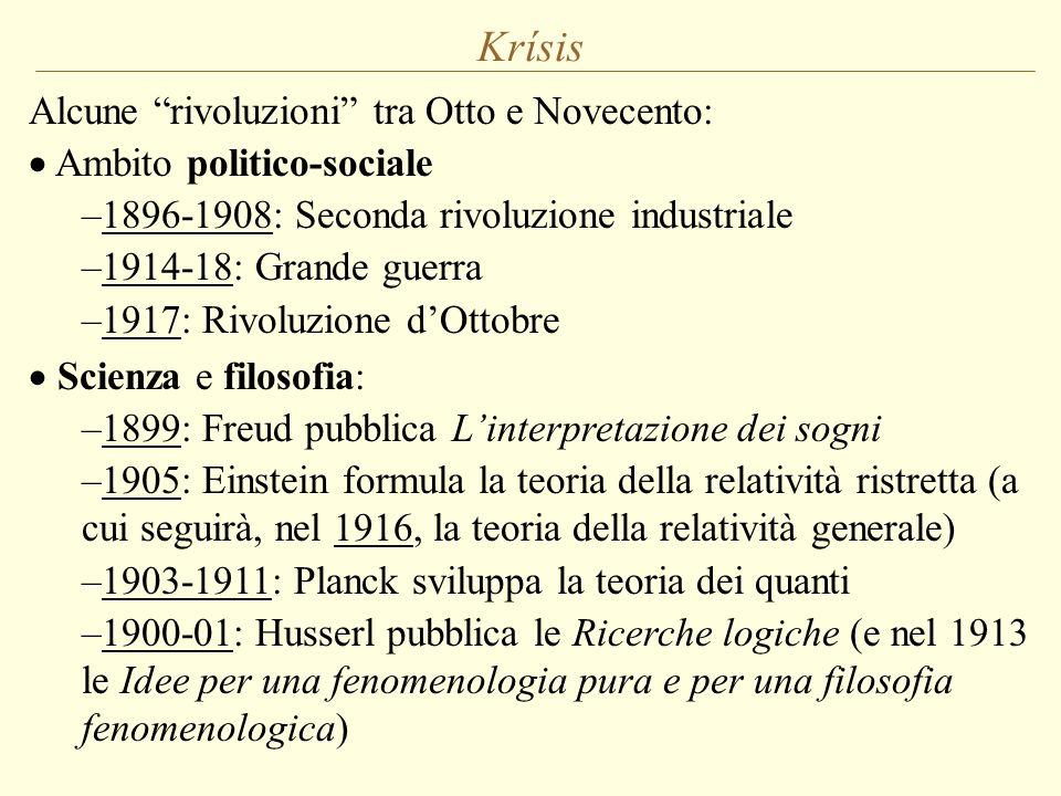 Krísis Alcune rivoluzioni tra Otto e Novecento: