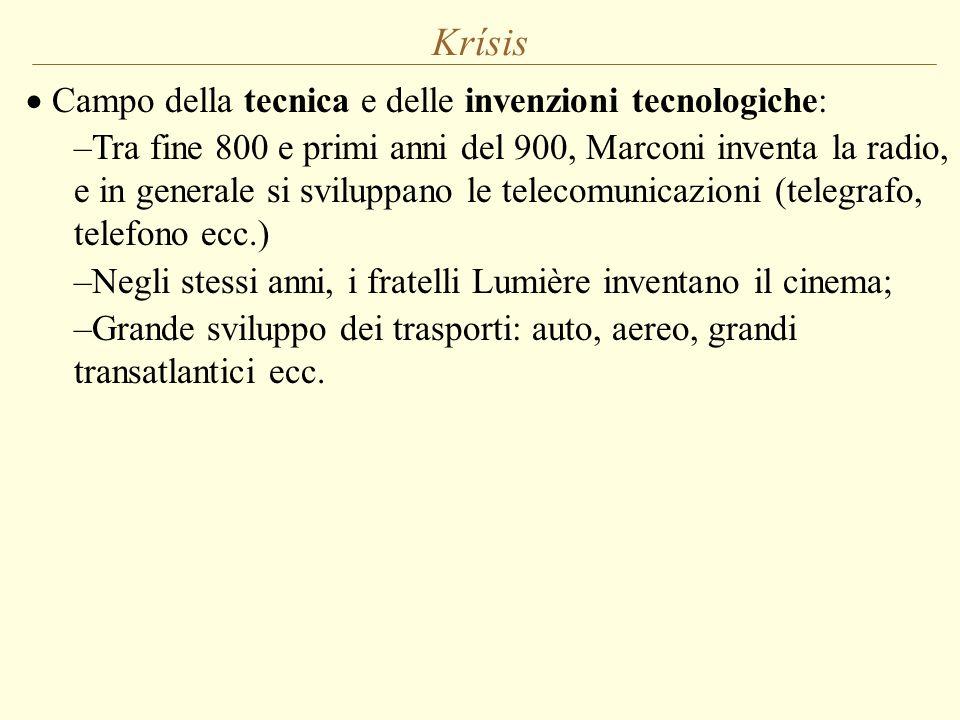 Krísis Campo della tecnica e delle invenzioni tecnologiche: