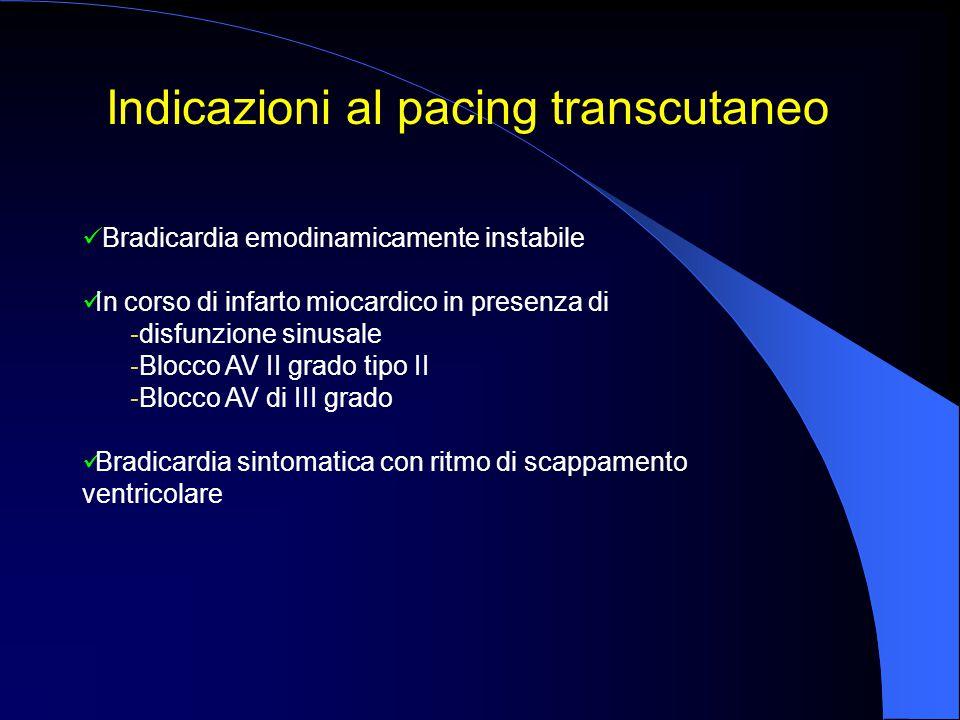 Indicazioni al pacing transcutaneo