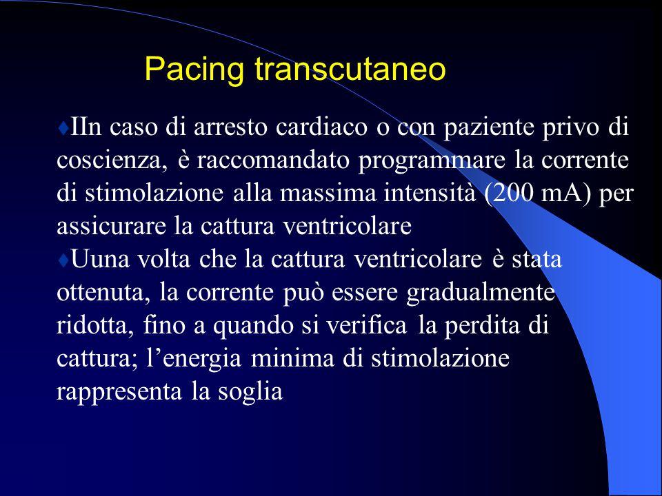 Pacing transcutaneo