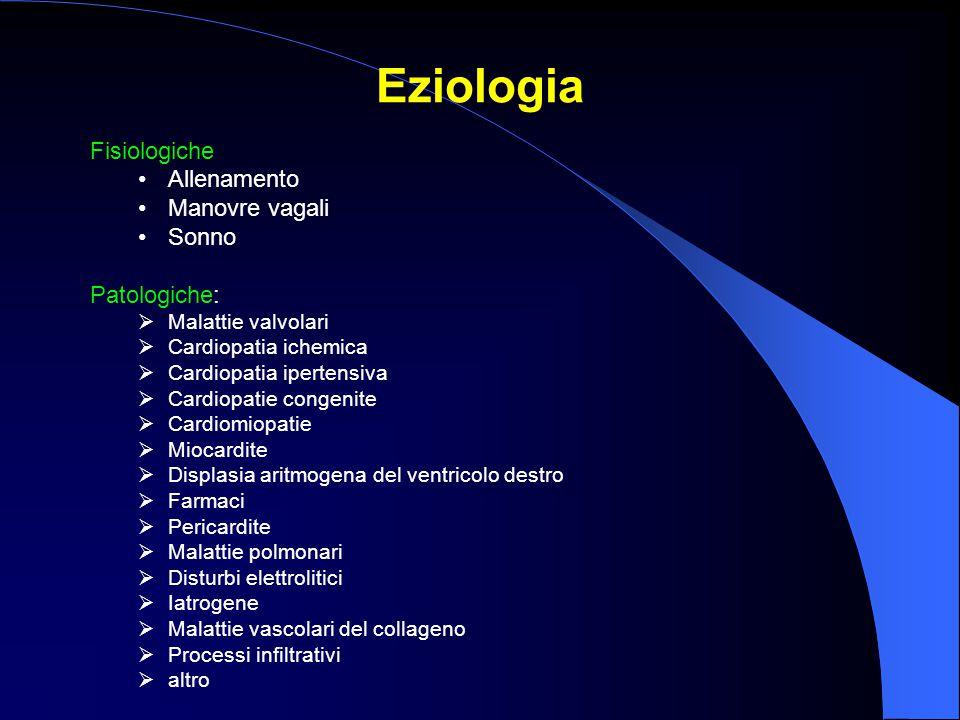 Eziologia Fisiologiche Allenamento Manovre vagali Sonno Patologiche: