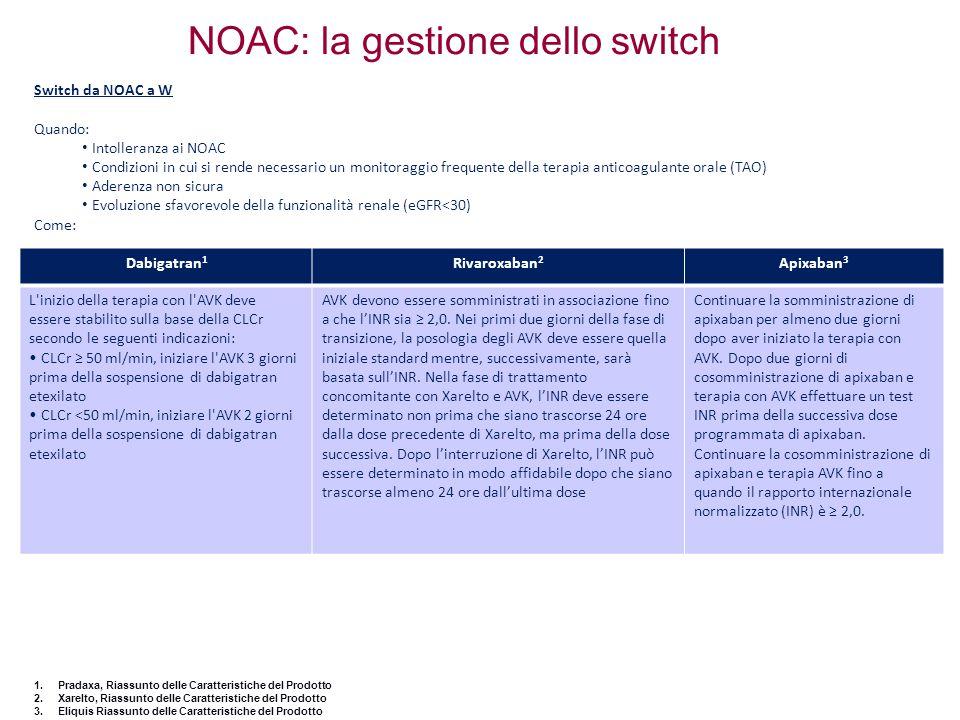 NOAC: la gestione dello switch