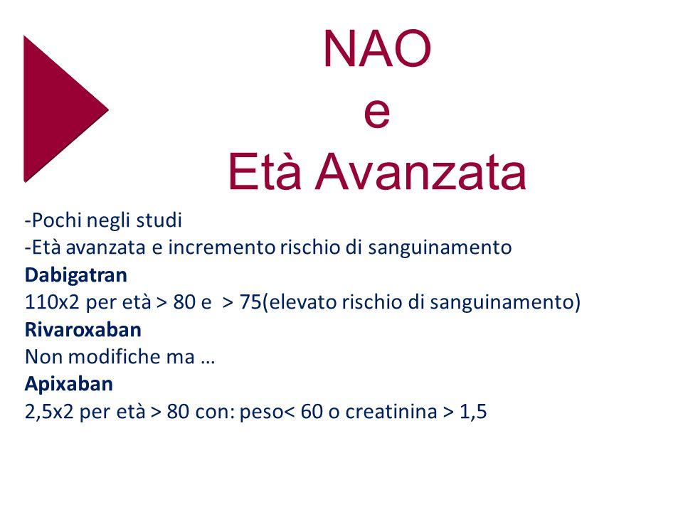 NAO e Età Avanzata -Pochi negli studi