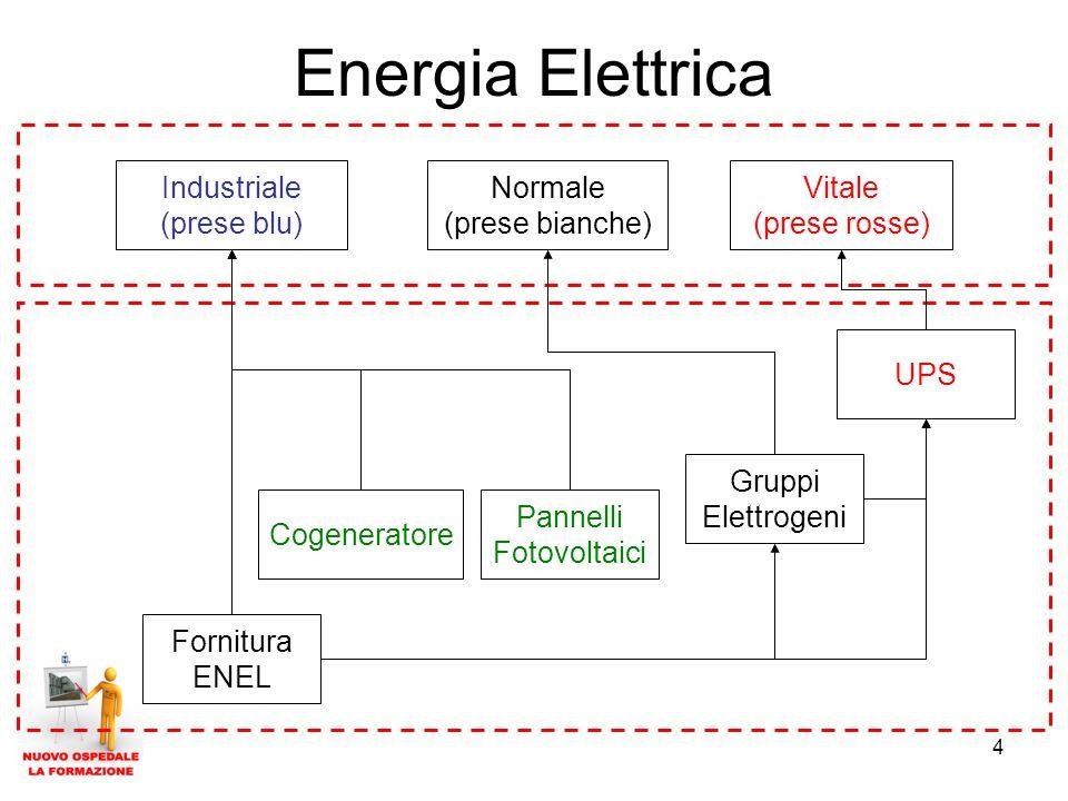 Energia Elettrica Industriale (prese blu) Normale (prese bianche)