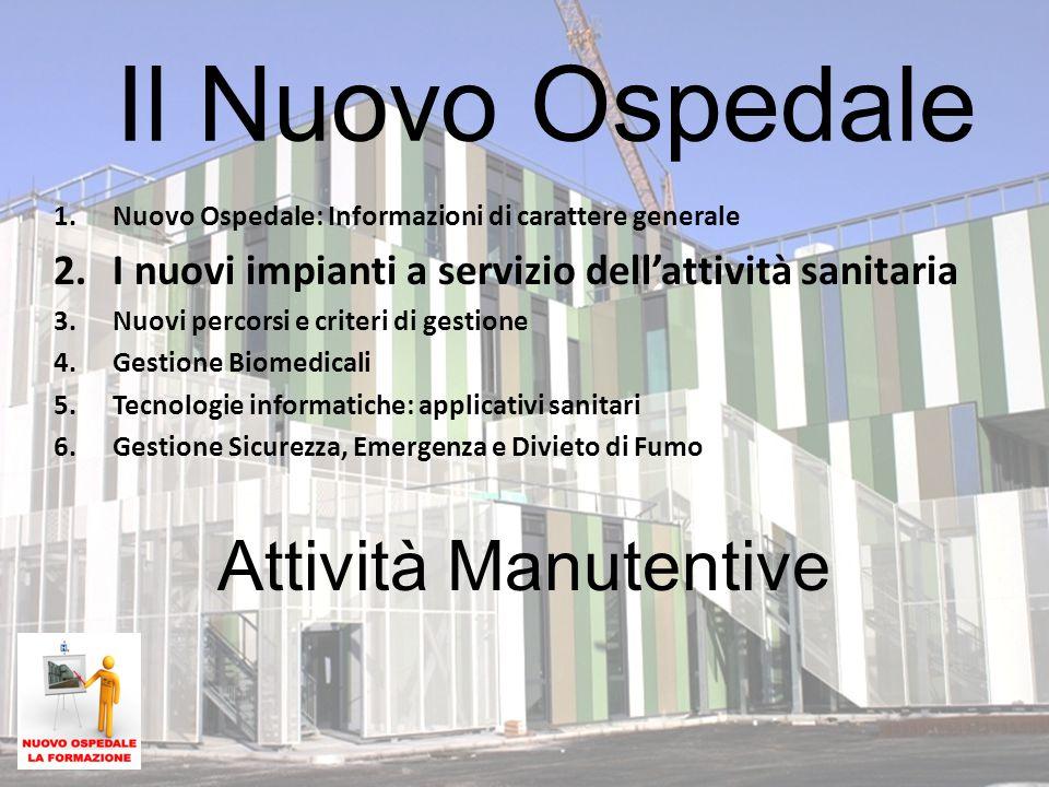 Il Nuovo Ospedale Attività Manutentive