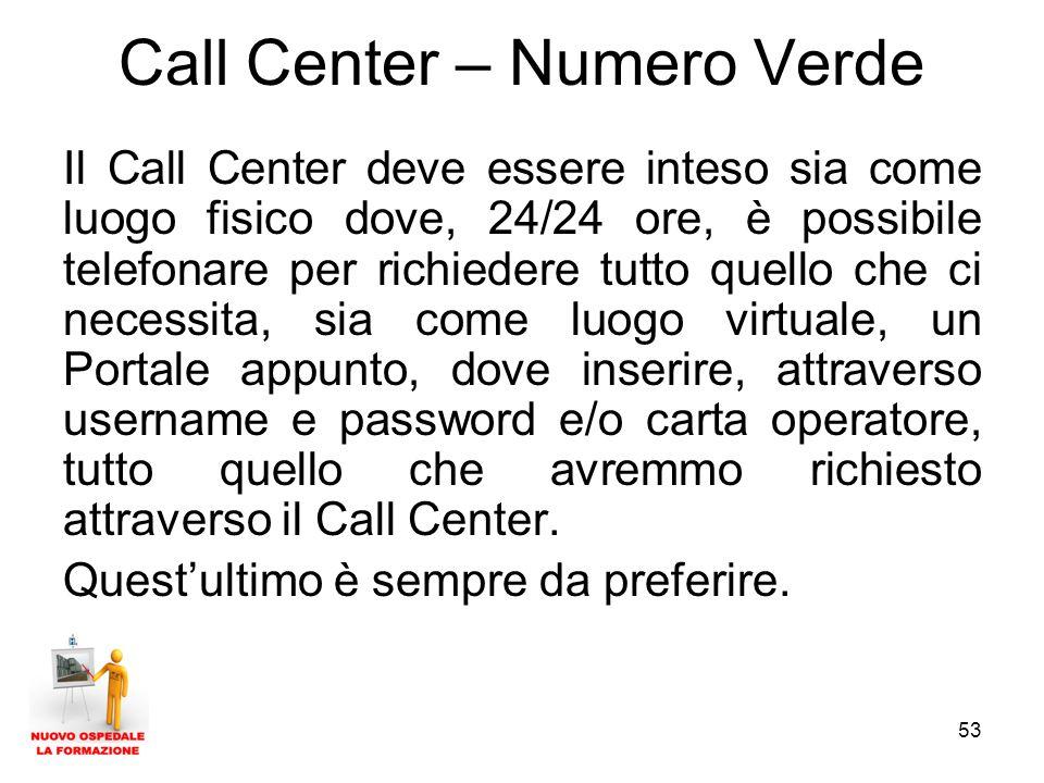 Call Center – Numero Verde