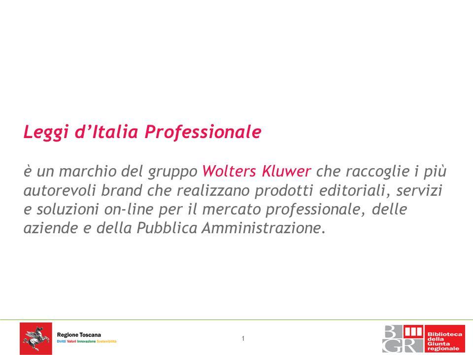 Leggi d italia professionale un marchio del gruppo for Chi fa le leggi in italia