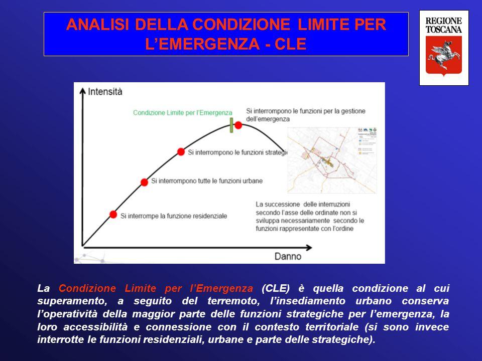 ANALISI DELLA CONDIZIONE LIMITE PER L'EMERGENZA - CLE